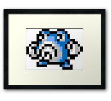 Pokemon 8-Bit Pixel Poliwhirl 061 Framed Print