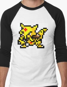 Pokemon 8-Bit Pixel Kadabra 064 Men's Baseball ¾ T-Shirt
