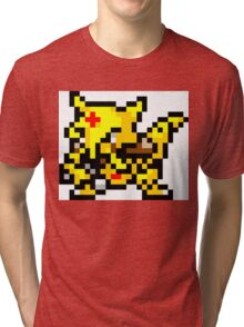 Pokemon 8-Bit Pixel Kadabra 064 Tri-blend T-Shirt