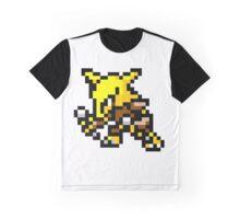 Pokemon 8-Bit Pixel Alakazam 065 Graphic T-Shirt