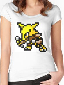 Pokemon 8-Bit Pixel Alakazam 065 Women's Fitted Scoop T-Shirt