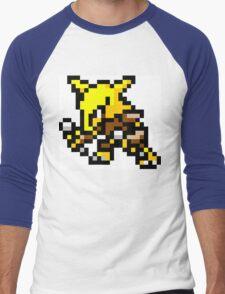Pokemon 8-Bit Pixel Alakazam 065 Men's Baseball ¾ T-Shirt