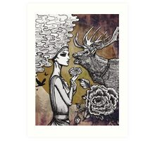 The Lonely Goddess Art Print