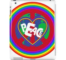 Peace on earth (rainbow) iPad Case/Skin