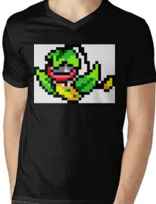 Pokemon 8-Bit Pixel Victreebel 071 Mens V-Neck T-Shirt