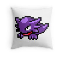Pokemon 8-Bit Pixel Haunter 093 Throw Pillow