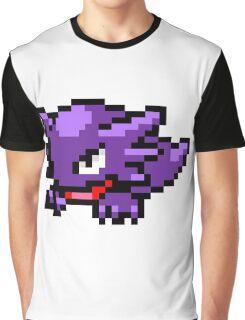 Pokemon 8-Bit Pixel Haunter 093 Graphic T-Shirt