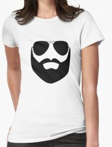 Beard and Sunglasses Womens Fitted T-Shirt