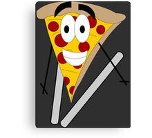 Skiing Pizza Canvas Print