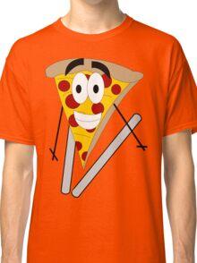 Skiing Pizza Classic T-Shirt