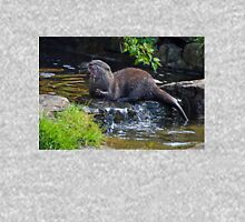 Lunchtime For An Asian Otter............. Womens Fitted T-Shirt