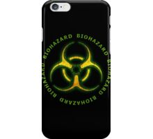 Green Biohazard Sign iPhone Case/Skin