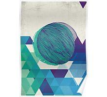 blue  / green geometric Poster