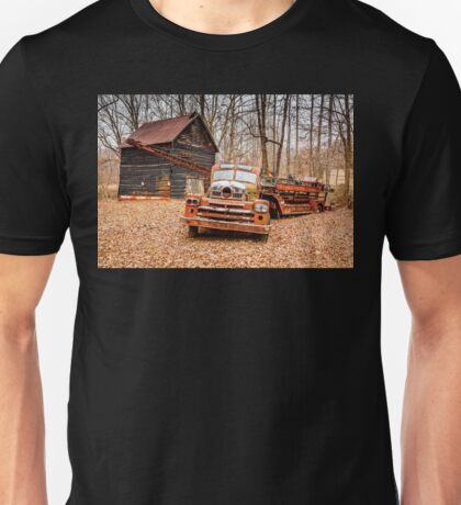 Where Do Old Fire Trucks Go To Die? Unisex T-Shirt