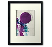 purple / blue / green abstract Framed Print