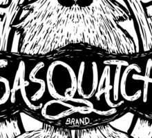 Woodcut Sasquatch Label Sticker