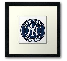 New York Yankees logo team Framed Print