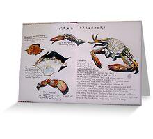 Crab Fragments Greeting Card