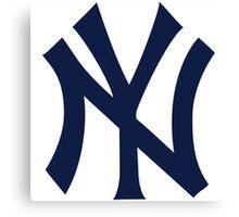 New York Yankees logo 2 Canvas Print