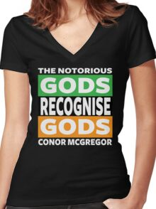 Conor Mcgregor, Gods Recognise Gods Women's Fitted V-Neck T-Shirt