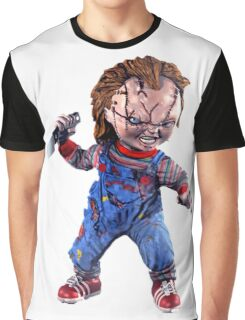 chucky, doll, hell, evil, horror, chukky, chuky,  Graphic T-Shirt