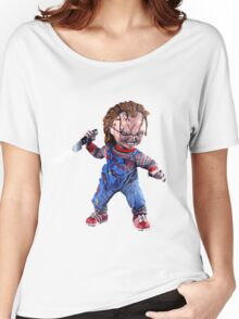 chucky, doll, hell, evil, horror, chukky, chuky,  Women's Relaxed Fit T-Shirt