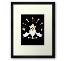 Mega Alakazam Design Framed Print