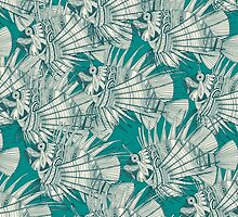 fish mirage teal by Sharon Turner