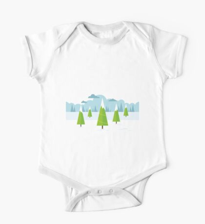 Winter Landscape One Piece - Short Sleeve