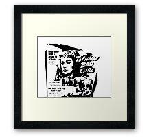 Teenage bad girl - b movie Framed Print