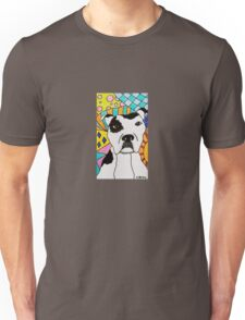 White Spotted Pit Bull Unisex T-Shirt
