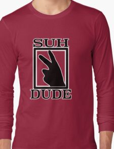 SUH DUDE BLACK Long Sleeve T-Shirt