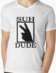 SUH DUDE BLACK Mens V-Neck T-Shirt