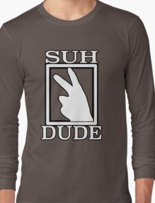 SUH DUDE WHITE Long Sleeve T-Shirt