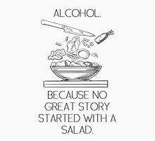ALCOHOL vs SALAD Unisex T-Shirt