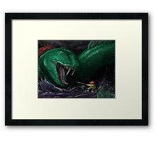 Kraken Blocked The Way Framed Print