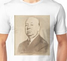 Alfred Hitchcock by John Springfield Unisex T-Shirt