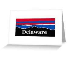 Delaware Red White and Blue Greeting Card