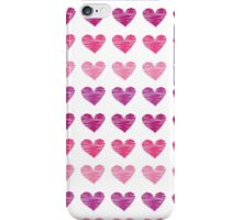 Pink heart pattern, ink sketch iPhone Case/Skin