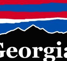 Georgia Red White and Blue Sticker