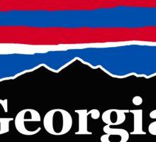 Georgia Red White and Blue Sticker