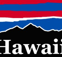Hawaii Red White and Blue Sticker