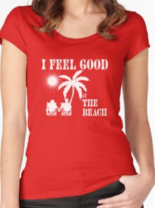 Feel good at the beach Women's Fitted Scoop T-Shirt