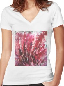 Passion I By Kenn. Women's Fitted V-Neck T-Shirt