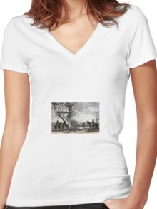 Sioux Indians Women's Fitted V-Neck T-Shirt