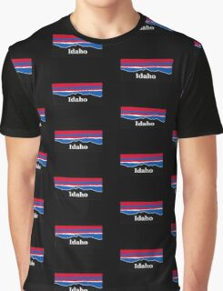 Idaho Red White and Blue Graphic T-Shirt