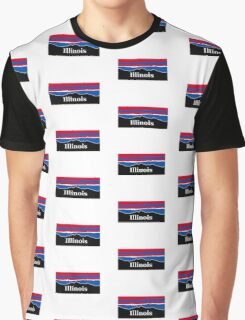 Illinois Red White and Blue Graphic T-Shirt