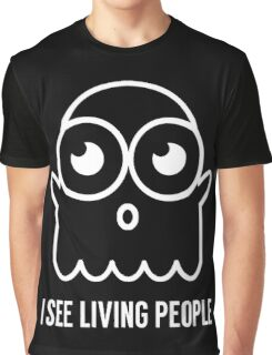 Spooky Ghost See Living People Print Graphic T-Shirt