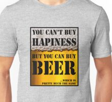 BEER IS HAPINESS (beer version) Unisex T-Shirt