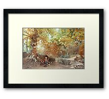 Anime And Reality Crossover Framed Print